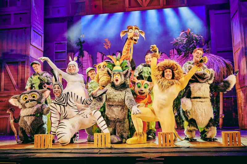 The cast of Madagascar the Musical