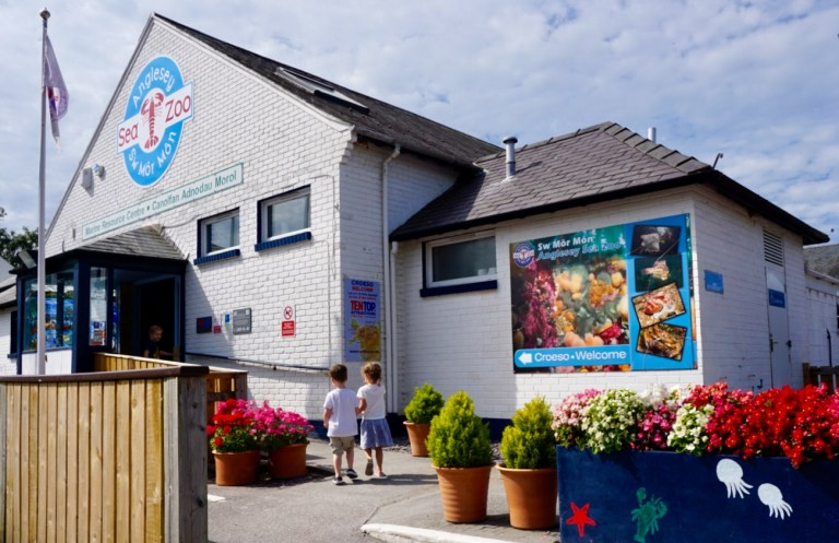 Entering Anglesey Sea Zoo