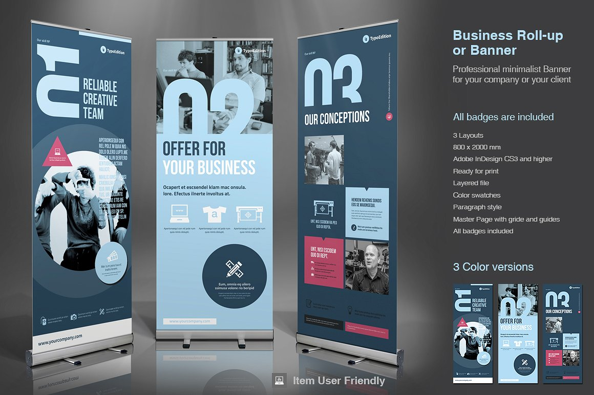InDesign roll-up template