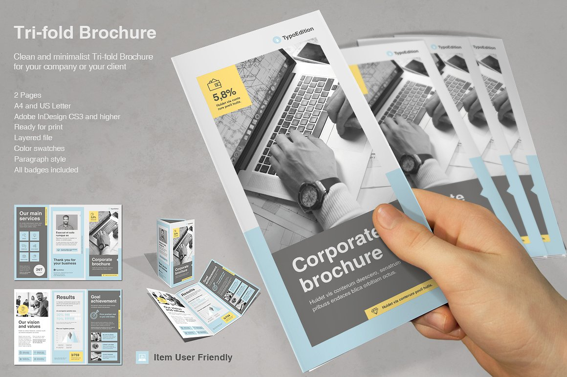 TriFold Corporate  Typoedition