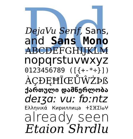 DejaVu_specimen