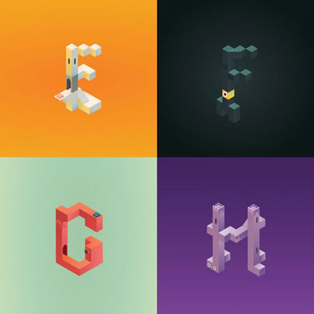 Alphabet-Inspired-by-Monument-Valley_1-640x640