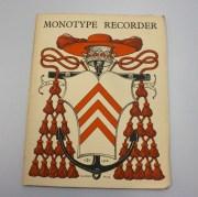 The Monotype Recorder