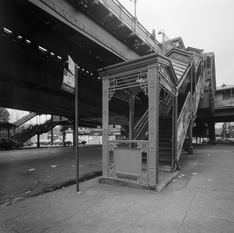 elevated train station steps
