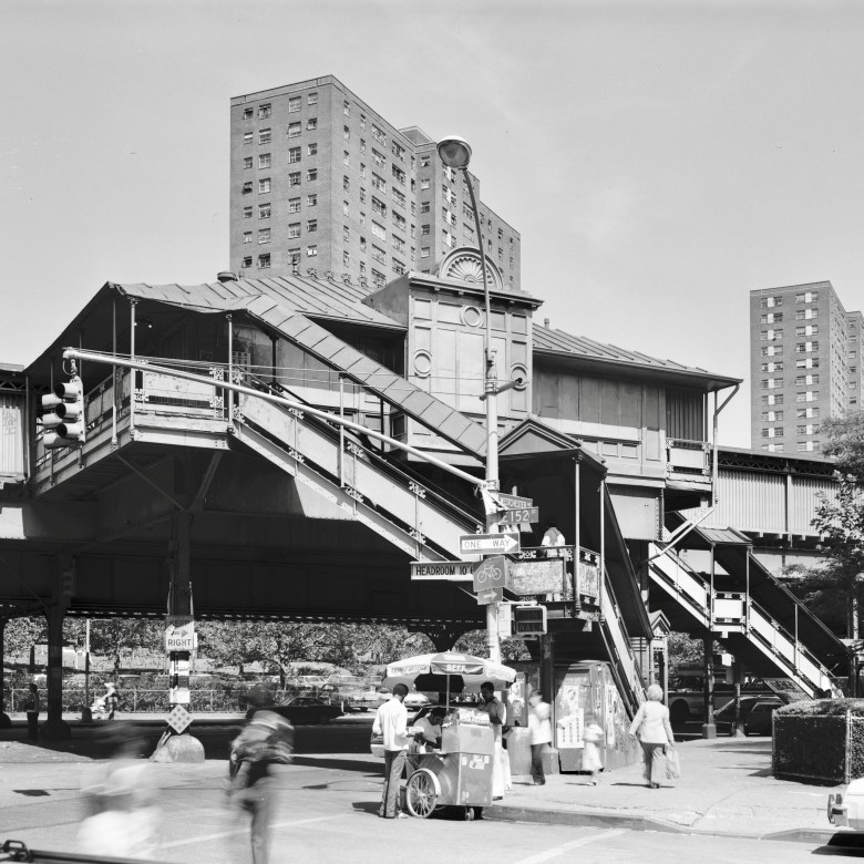 elevated train station