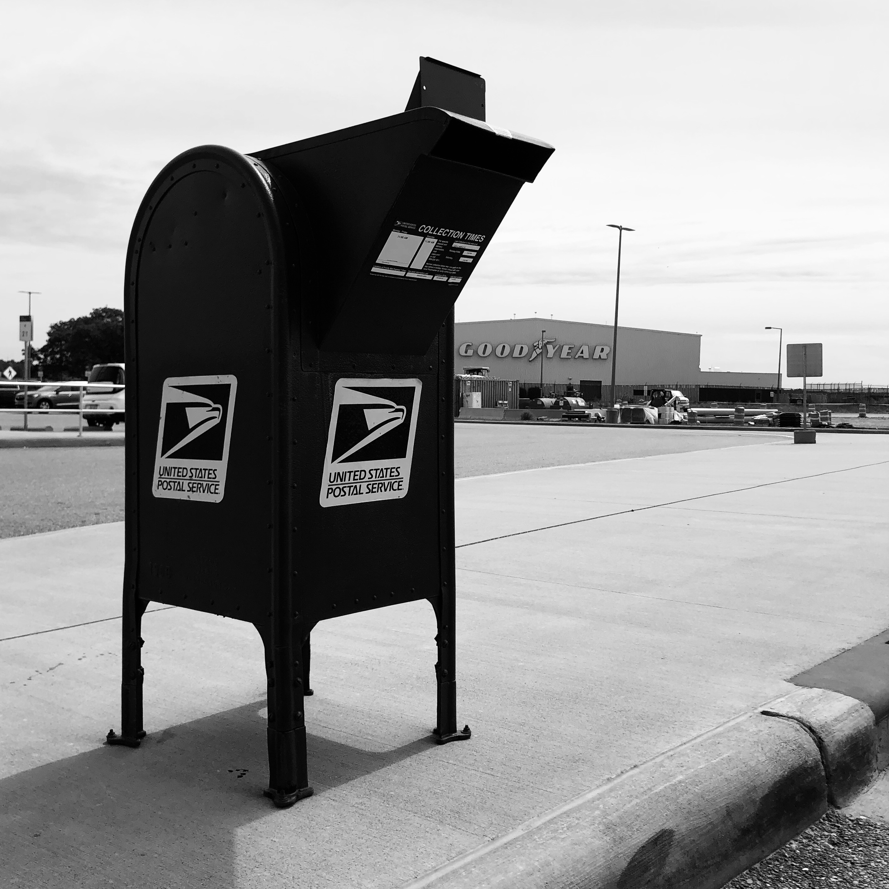 USPS Snorkel Collection Box Receptacle