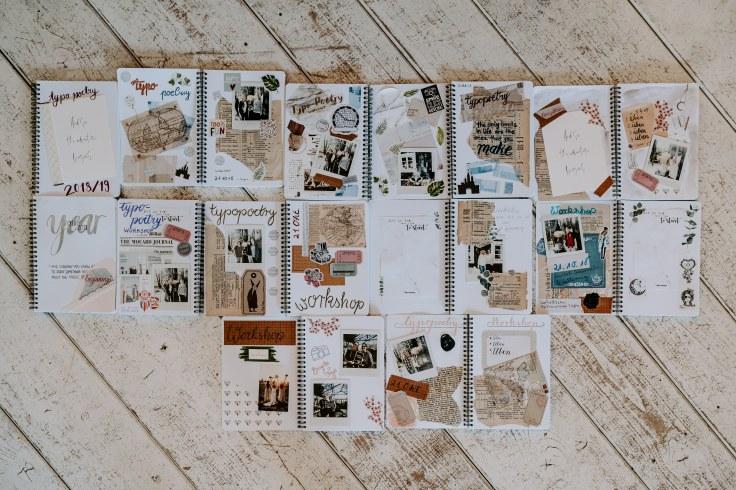 my day: journaling collagen mit Sofortbilder von @instax_de Fotocredit: @brigittefoysi