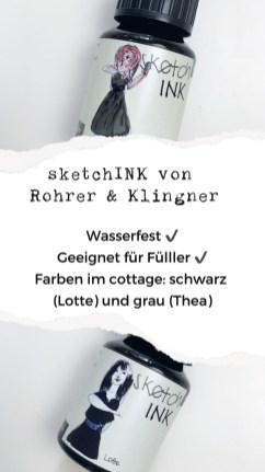 Inktober modern calligraphy Kalligraphie