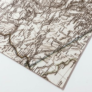 Motivpapier Fotokarton Landkarte