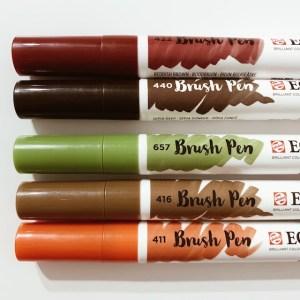 Brush pen Set Herbstfarben