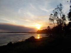 018. Sunset over Tuggerah Lake from Budgewoi