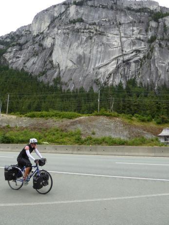 013. Philippa riding past Stawamus Chief Mountain