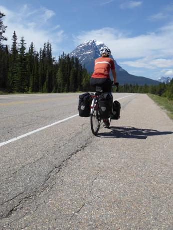 120. Icefields Parkway near Athabasca Falls