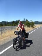 056. Riding (helmetless due to the heat) on the old highway