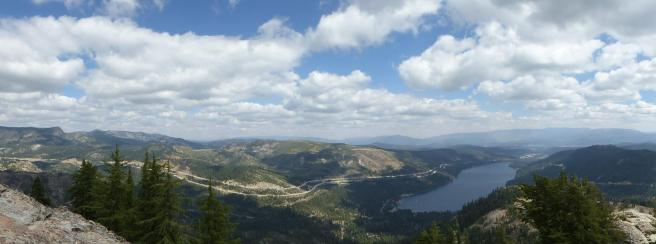 154. Donner Lake from Donner Peak (pano)