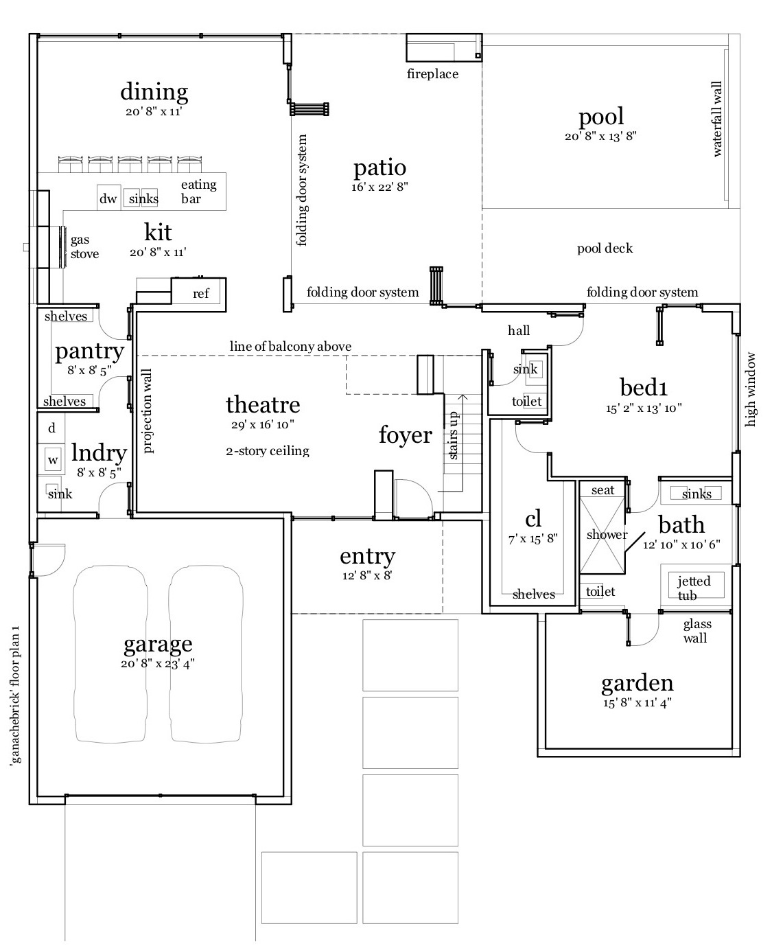 Ganache Brick House Plan By Tyree House Plans
