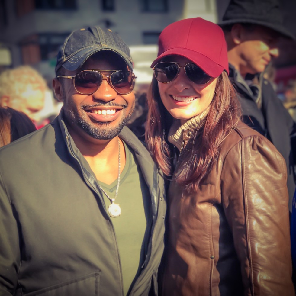 Love Trumps Hate Tyrone Smith The Womens March NYC Shae Smith LGBTQ Equality Positive Love