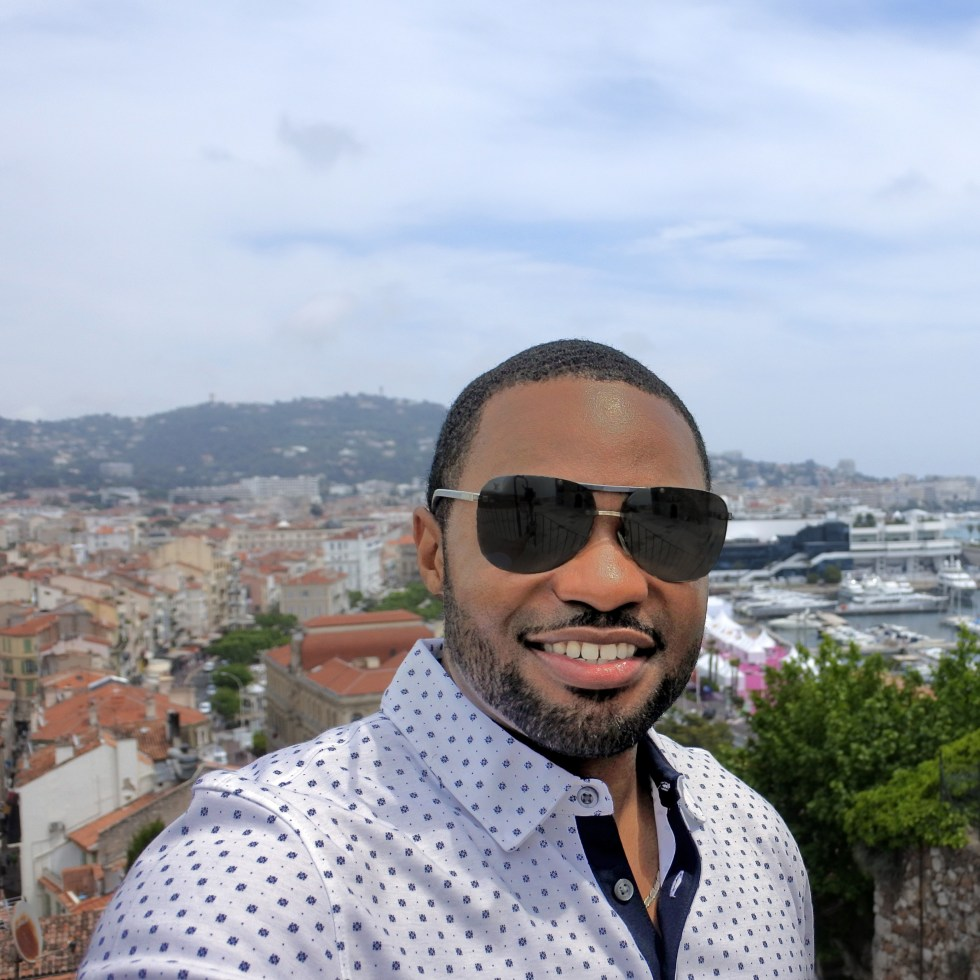 View from Chruch of Notre Dame in Cannes France with Celebrity music producer and influencer Tyrone Smith