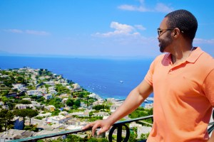 Isle of Capri with famous celebrity musician producer influencer and brand ambassador Tyrone Smith