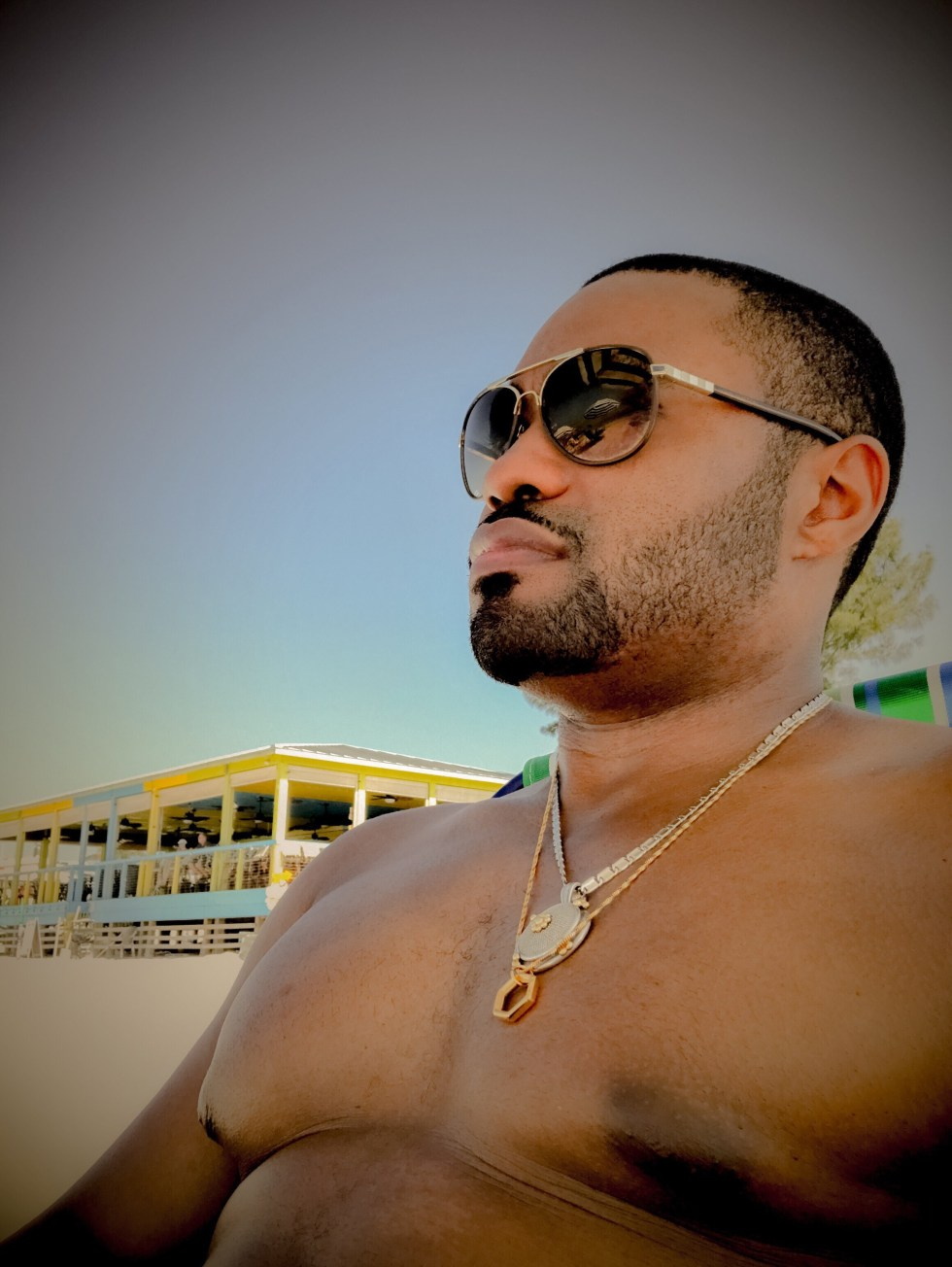 Fort Myers Beach Sunrise with Tyrone Smith Pvos.co necklace Louis Vuitton shades