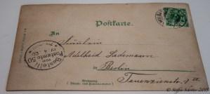 115 Jahre alte Postkarte