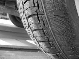 Badly perished tyre