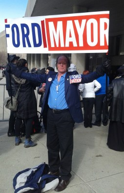 """Kenny Neville is a long-time Rob Ford supporter and a proud member of 'Ford Nation.' Neville said he was at the funeral procession to """"honour the King of all kings."""""""