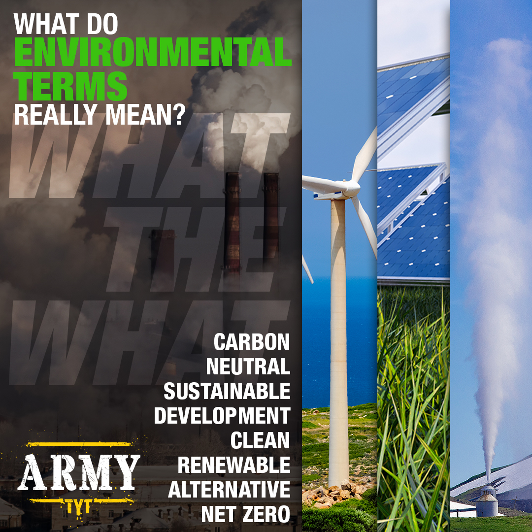 Environmental Terms: What do they actually mean?