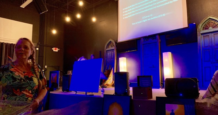 Day 1 at Glory Fire Church – Engaging The Living Letters Living in The Secret Place