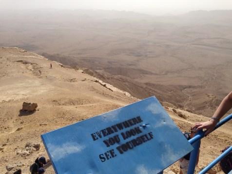 Overlooking Ramon Crater, 500m deep