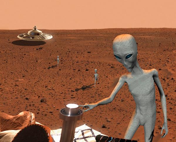 На Марсе покоятся подозрительные останки пришельцев НАСА по-прежнему стоит на своем