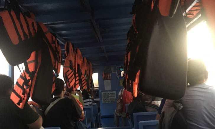 ボラカイ島 バンカーボート内部
