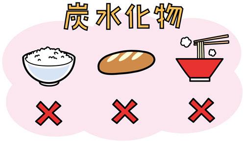 糖質制限ダイエット 炭水化物禁止