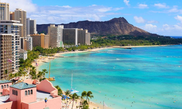 オアフ島のワイキキ・ビーチ(Waikiki Beach)