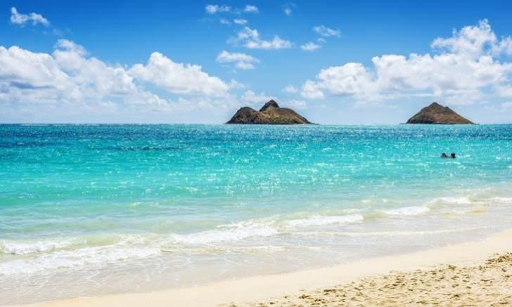 オアフ島のカイルア・ビーチ(Kailua Beach)