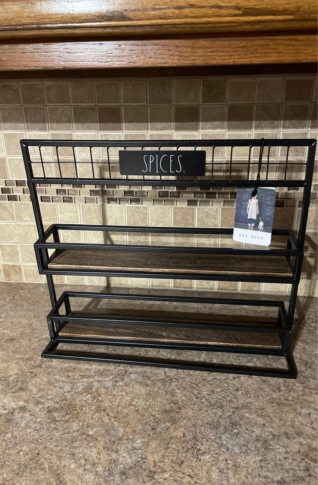 rae dunn spice rack kitchen storage