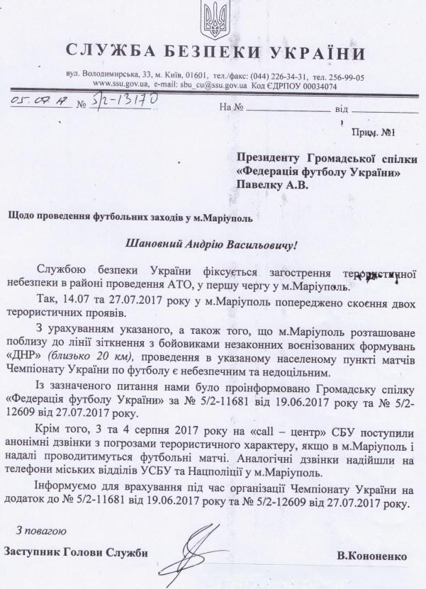 Апелляционный комитет ФФУ накануне решения