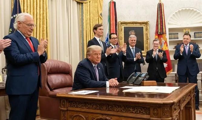 Trump presents the Abraham Accords