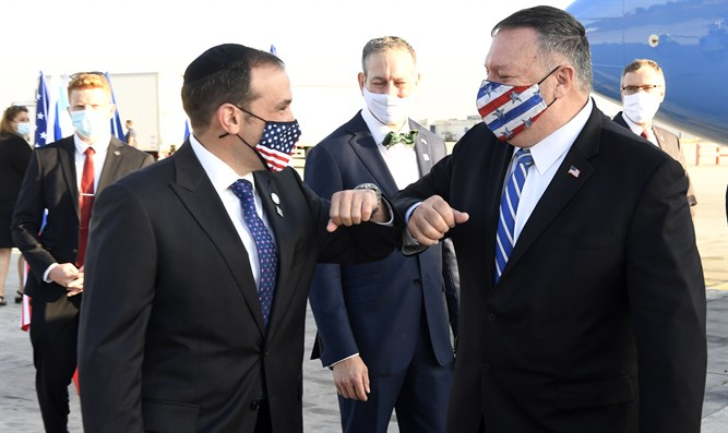 Mike Pompeo lands in Israel - Inside Israel - Israel National News