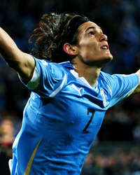 World Cup 2010 - Uruguay vs Germany,Edinson  Cavani (Getty Images)