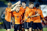 Netherlands celebrates goal against San Marino (PROSHOTS)
