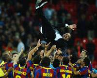 UEFA Champions League: Barcelona celebrates