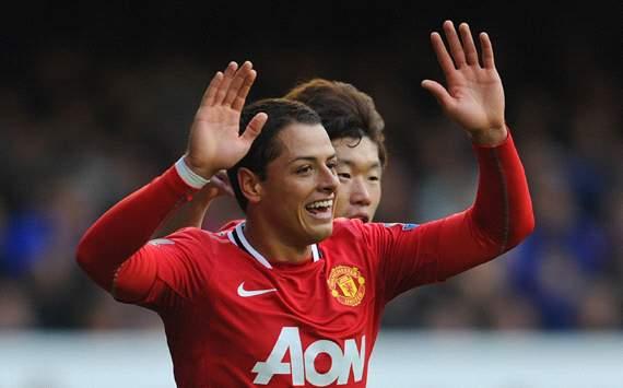 EPL :Javier Hernandez, Everton v Manchester United