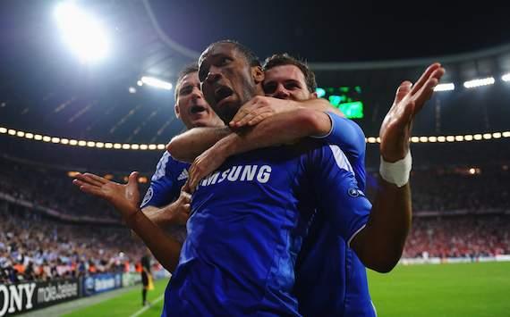UEFA Champions League: FC Bayern München - FC Chelsea, Chelsea celebrating