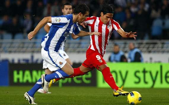 Radamel Falcao, Real Sociedad - Atlético de Madrid