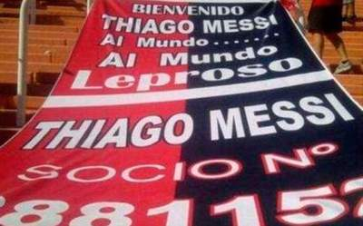 Thiago Messi Socio de Newell's Old Boys