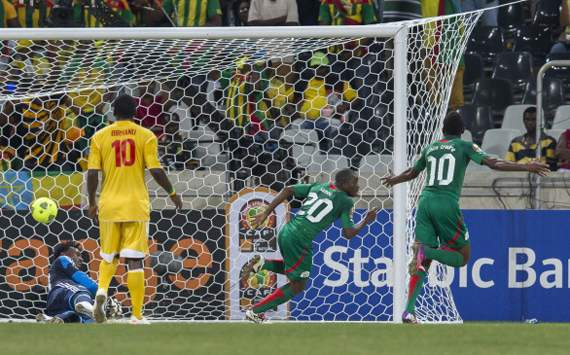 Ethiopia looks dejected as Burkina Faso score