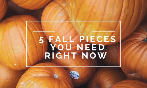 Feelin' So Fall: 5 Looks to Embrace the Season