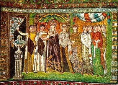 Cortejo de la Emperatriz Teodora. San Vital