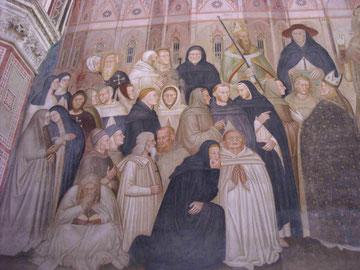 Detalle de la Capilla de los españoles.Misión de los dominicos. Sala Capitular.Santa Maria Novella .Florencia